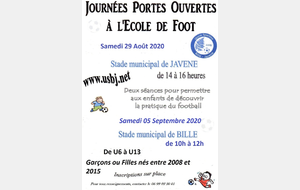 OPERATION   PORTES OUVERTES  A L'USBJ FOOTBALL: